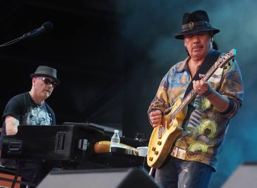 David K. Mathews and Carlos Santana