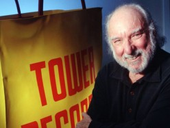 Tower Records founder dies drinking whiskey and watching the Oscars.